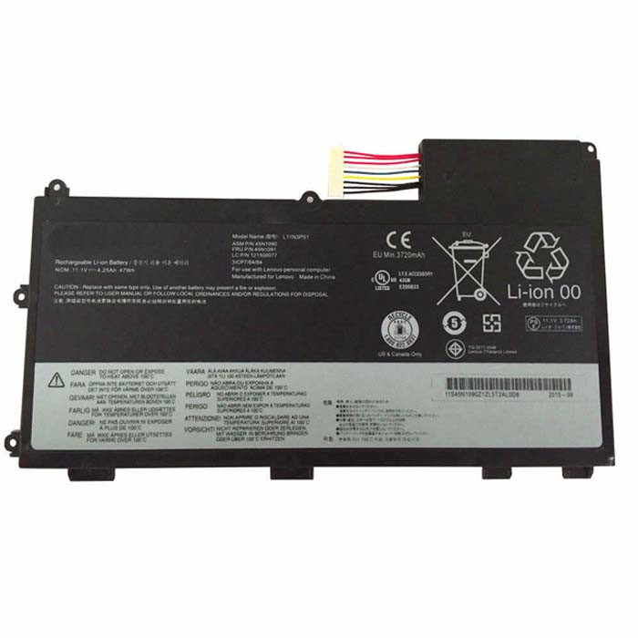 L11N3P51 Battery 47wh/4.25Ah 11.1V Pack for Lenovo ThinkPad T430U