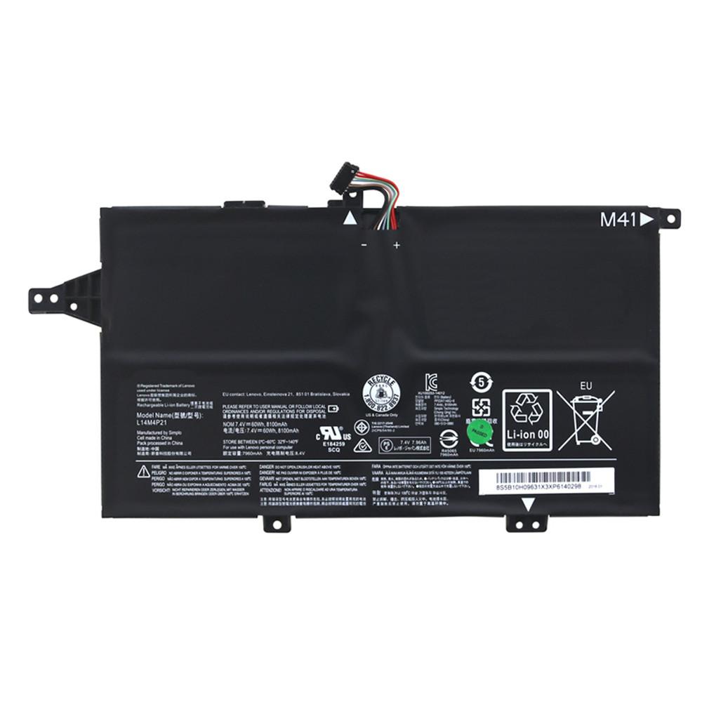 L14M4P21 Battery 60Wh/8100mAh 7.4V Pack for Lenovo M41-70 K41-70 Series