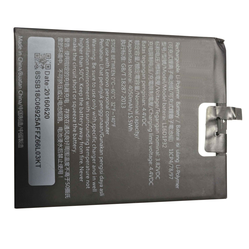 L16D1P32 Battery 4050mAh 3.82V Pack for Lenovo Tablet Smart Phone