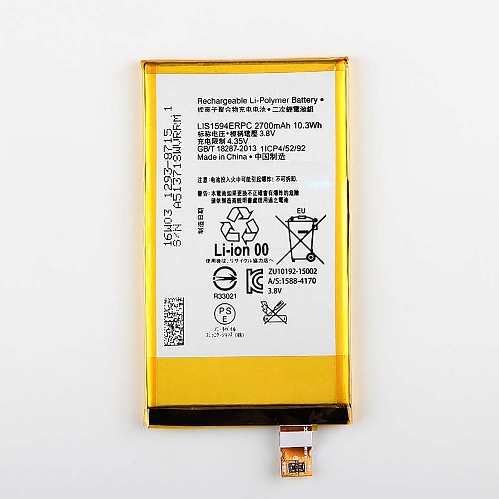 LIS1594ERPC Battery 2700 mAh/10.3wh 3.8 DVC Pack for Sony Z5 compact Z5C Z5 mini E5823