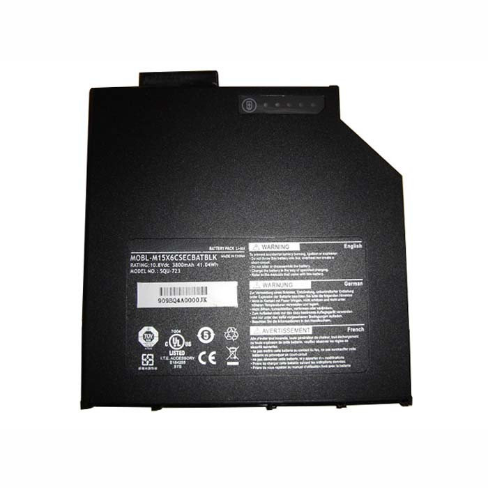 MOBL-M15X6CSECBATBLK SQU-723O Battery 41.04WH/3800mah 10.8V Pack for CD-ROM drive Battery for Dell Alienware M15X