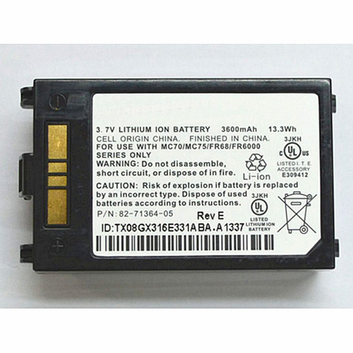 82-71364-03 82-71364-05 Battery 3600mAh/13.3Wh 3.7V Pack for Symbol MOTOROLA MC70 MC75 FR68 MC7090 MC7004