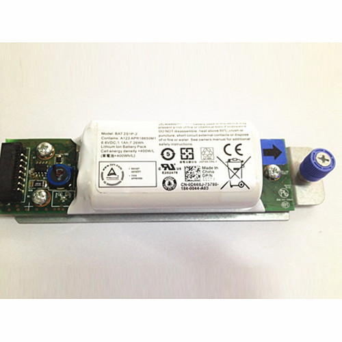 2S1P-2 Battery 1.1Ah/7.3Wh 6.6V Pack for Dell Raid BAT 2S1P-2 Controller Battery PowerVault MD3200i MD3220i SAN Array