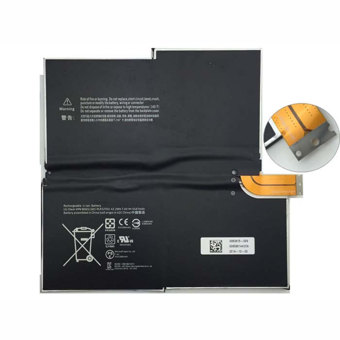 1577-9700 MS011301-PLP22T02  Battery 5547MAH/42.2WH 7.6V Pack for MICROSOFT SURFACE PRO3 3