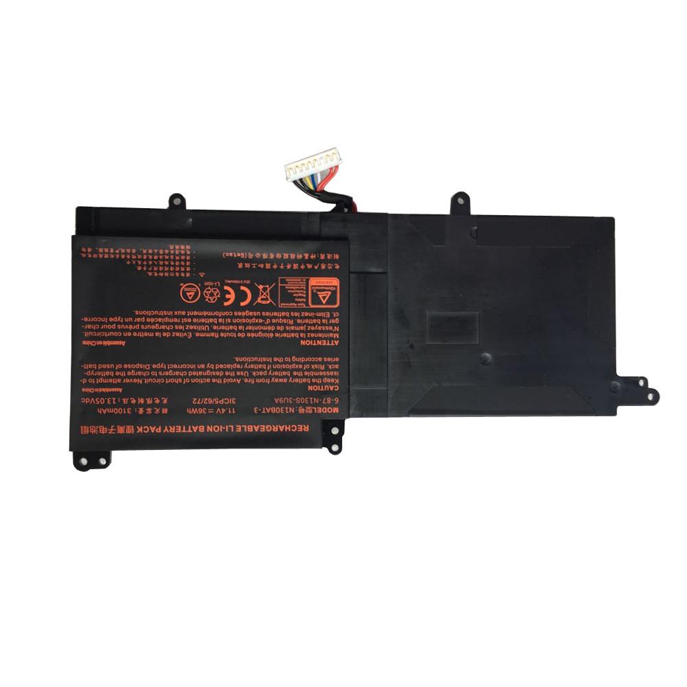 N130BAT-3 Battery 36Wh 11.4V Pack for Clevo N130BU Sager NP3130 36Wh