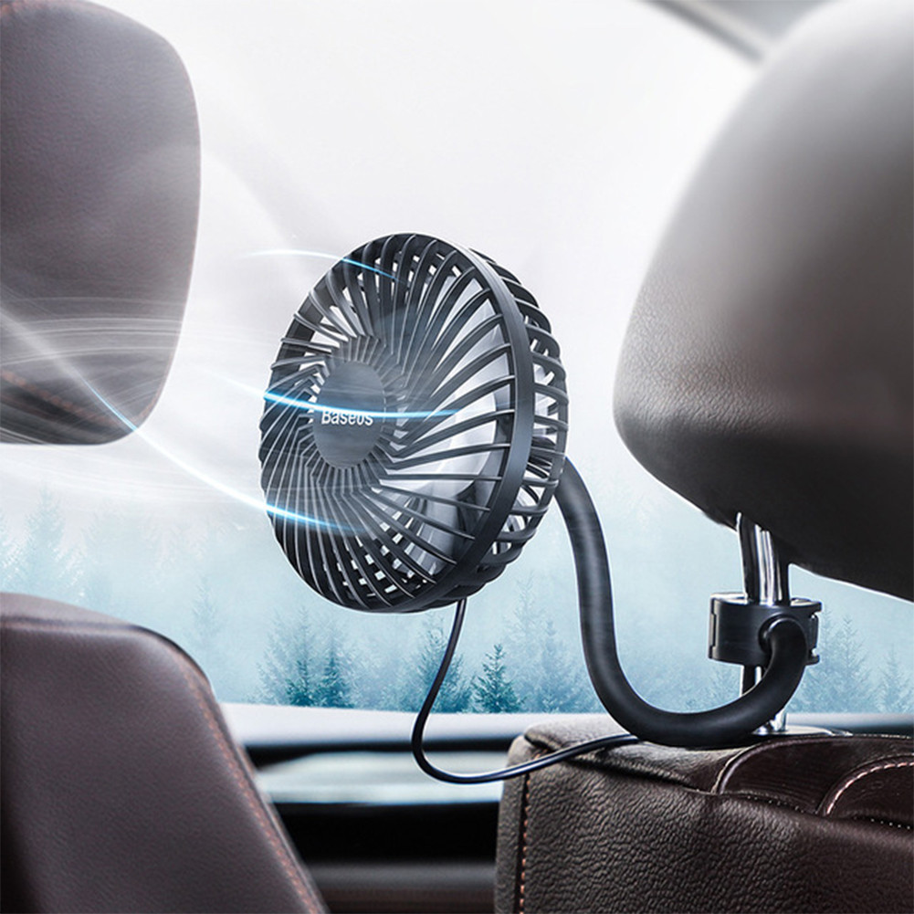 Car Fan 360 Degree Rotating Air Vent Conditioner Cooling Fan Auto Backseat Air Vent USB Cooling Fan Auto Mini USB Fan