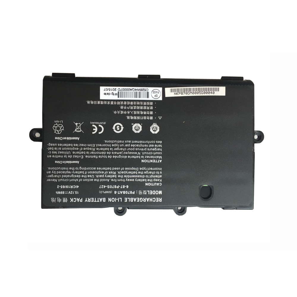P870BAT-8 Battery 89Wh 15.12V Pack for clevo P870 SERIES