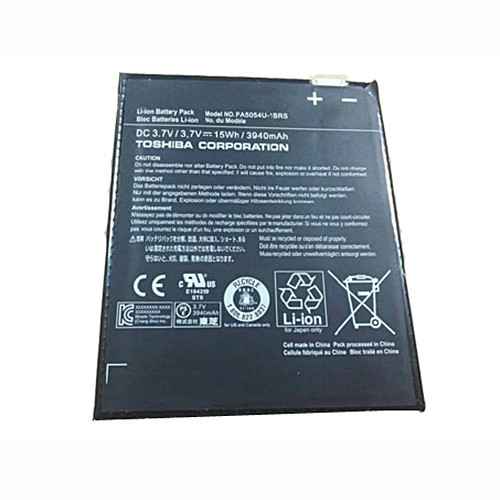 PA5054U-1BRS Battery 3940mah 3.7V Pack for Toshiba H000042680 Series