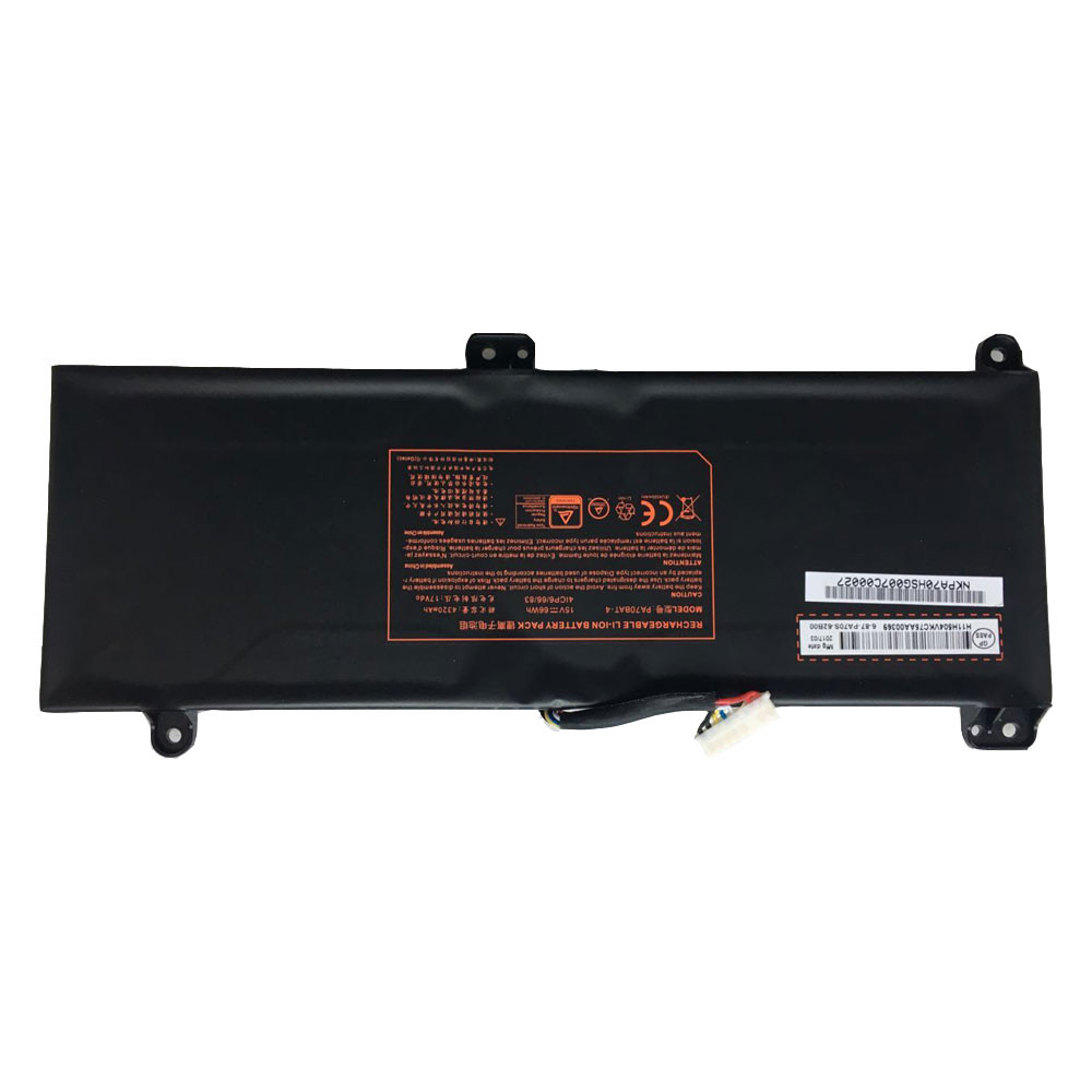 PA70BAT-4 Battery 66Wh/4320mAh 15V Pack for Clevo PA70HP6-G PA70HS-G PA71HP6-G 4ICP6/66/83 Series