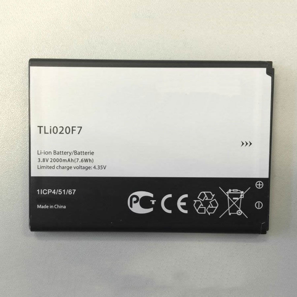 TLI020F7 Battery 2000MAH/7.6Wh 3.8V/4.35V Pack for Alcatel Onetouch Pixi 4 (5) 5045D