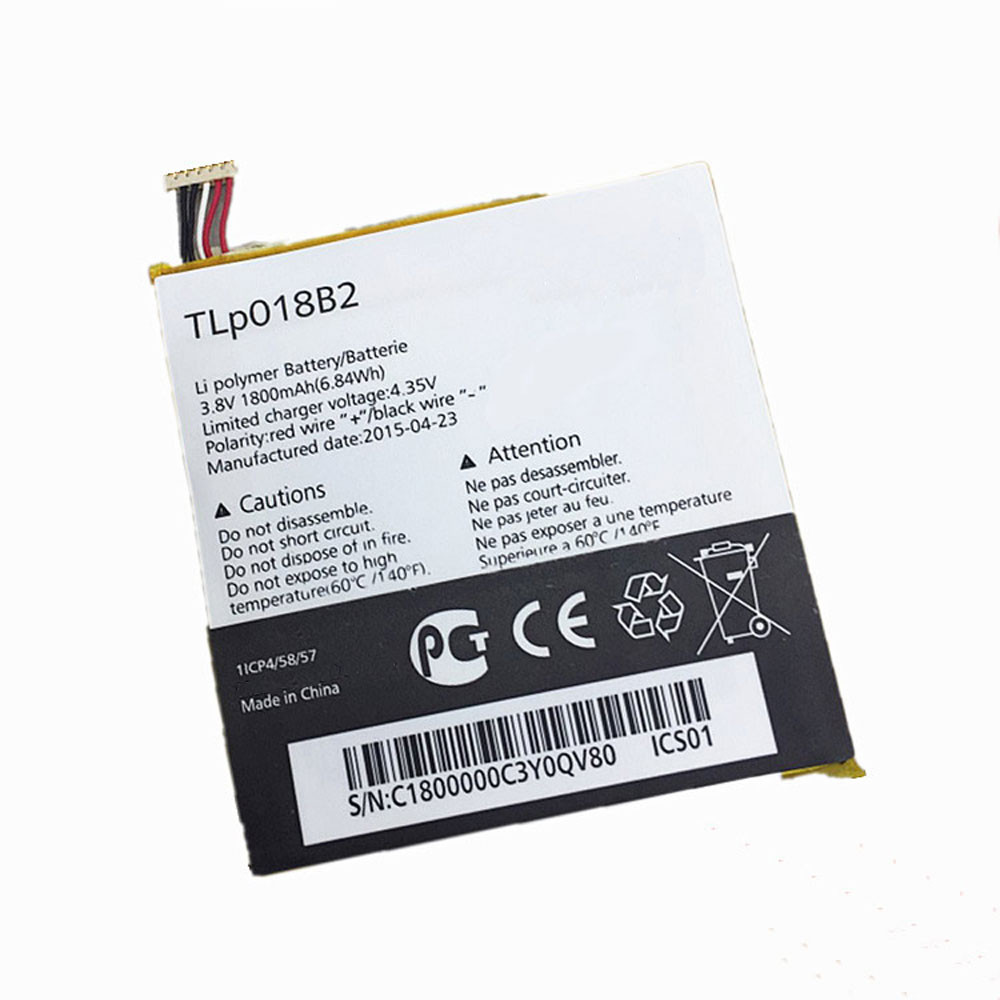TLP018B2 Battery 1800MAH/6.84Wh 3.8V/4.35V Pack for Alcatel ONETOUCH Fierce 7024 7024w 7024n Ot-6030a 6030 S820