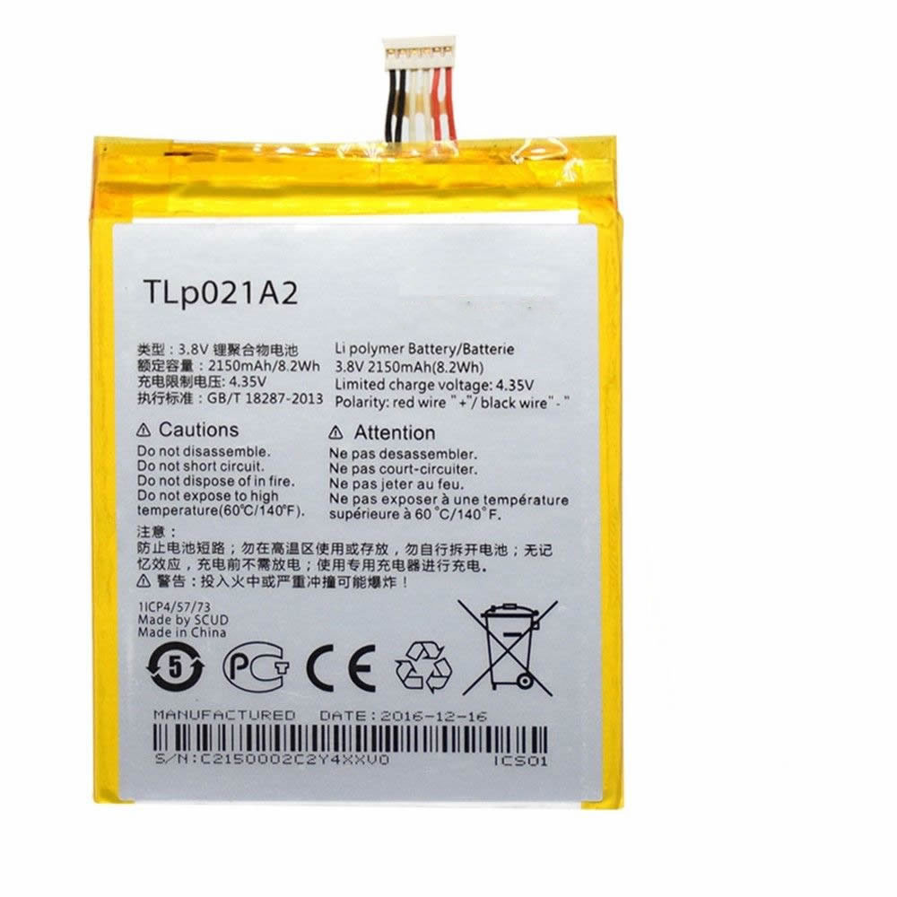 TLP021A2 Battery 2150MAH/8.2Wh 3.8V/4.35V Pack for Alcatel One Touch Idol 2S OT-6050 OT-6050Y TCL S830U S838M