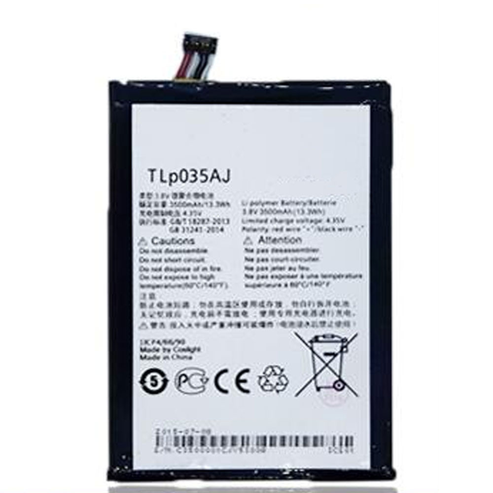 TLP035Aj  Battery 3500MAH/13.3Wh 3.8V/4.35V Pack for ALCATEL onetouch N1 MAX M823