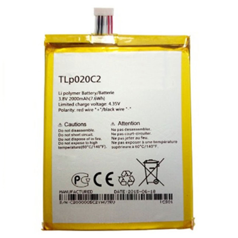 TLp020C2 Battery 2000MAH/7.6Wh 3.8V/4.35V Pack for Alcatel S950 S950T idol X/S 6034R