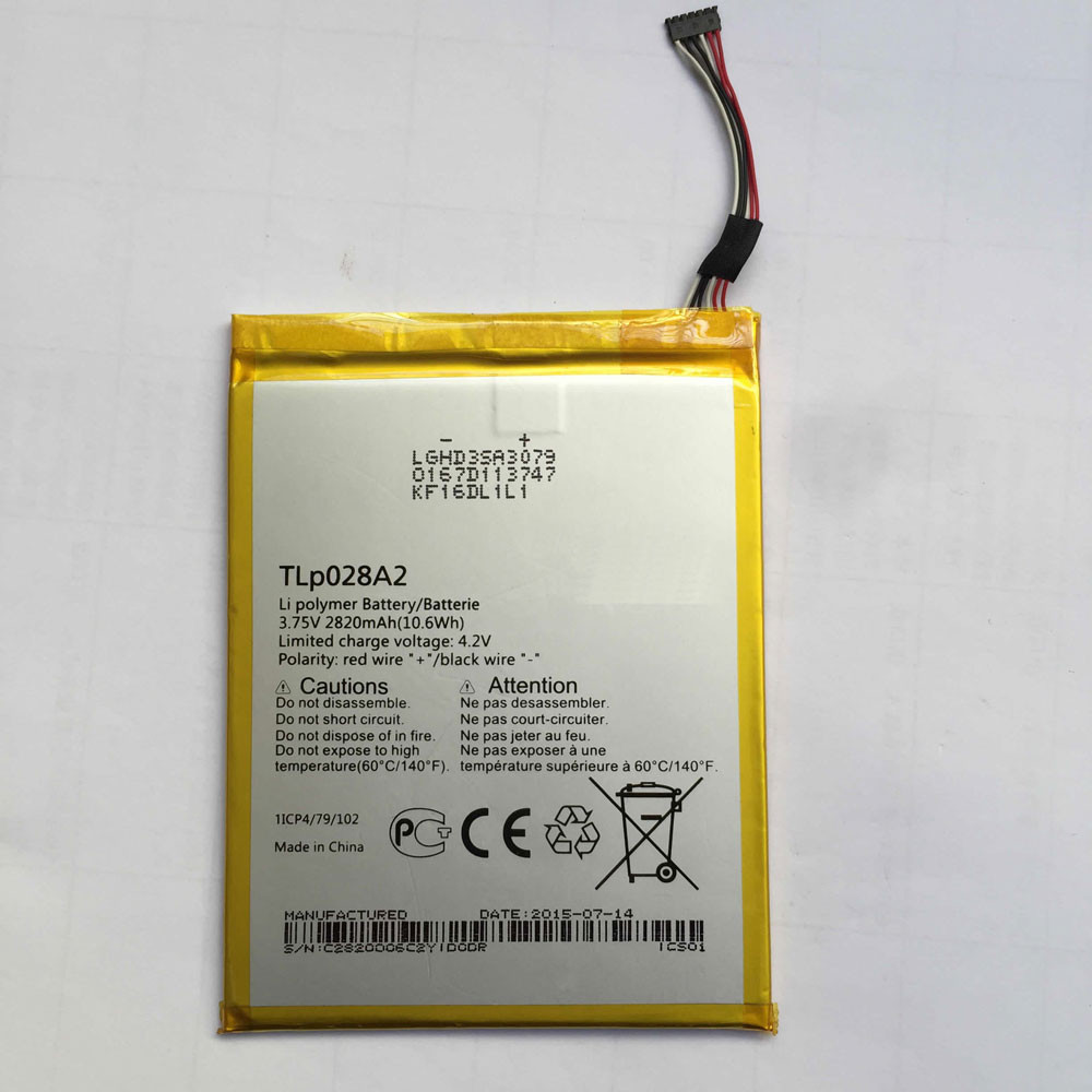 TLp028AD Battery 2820MAH/10.6Wh 3.75V/4.2V Pack for Alcatel One Touch Pixi 3 (7) LTE / 7.0 4G