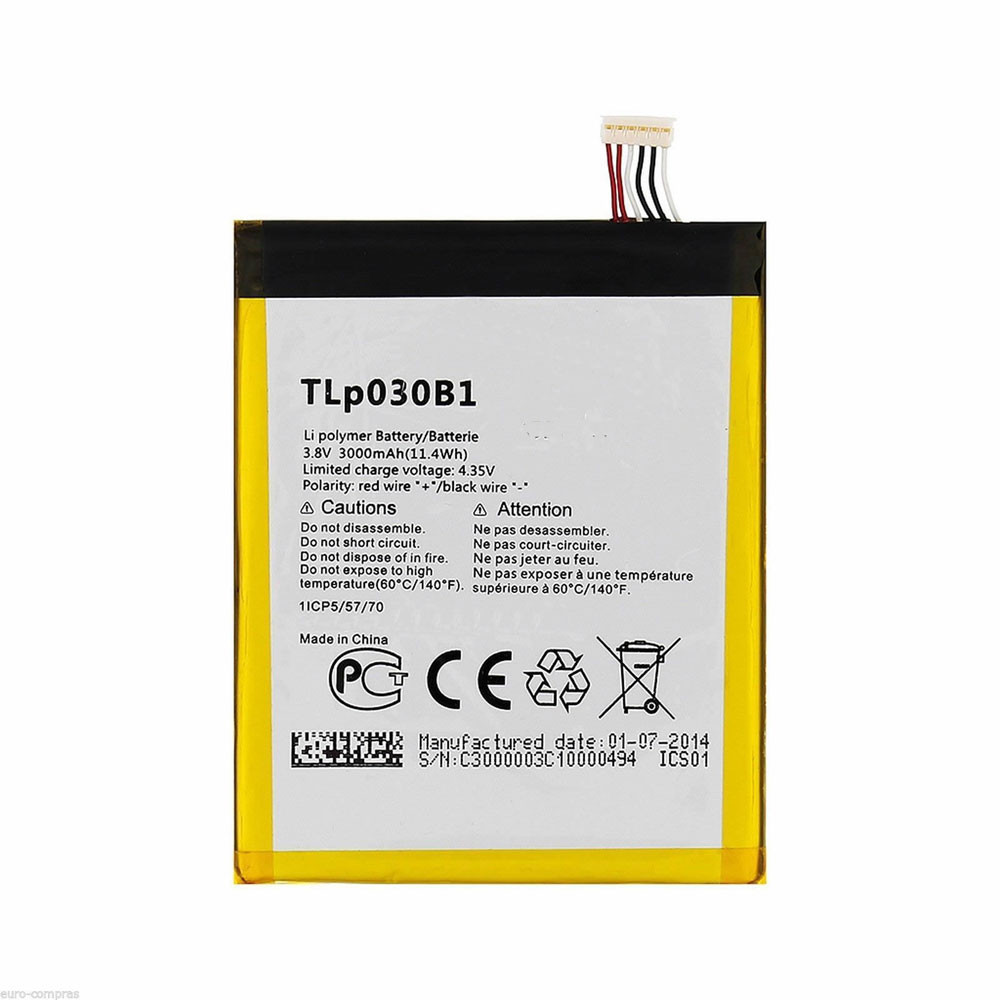 TLp030B1 Battery 3000MAH/11.4Wh 3.8V/4.35V Pack for Alcatel One Touch Pop S7 OT 7045 7045Y