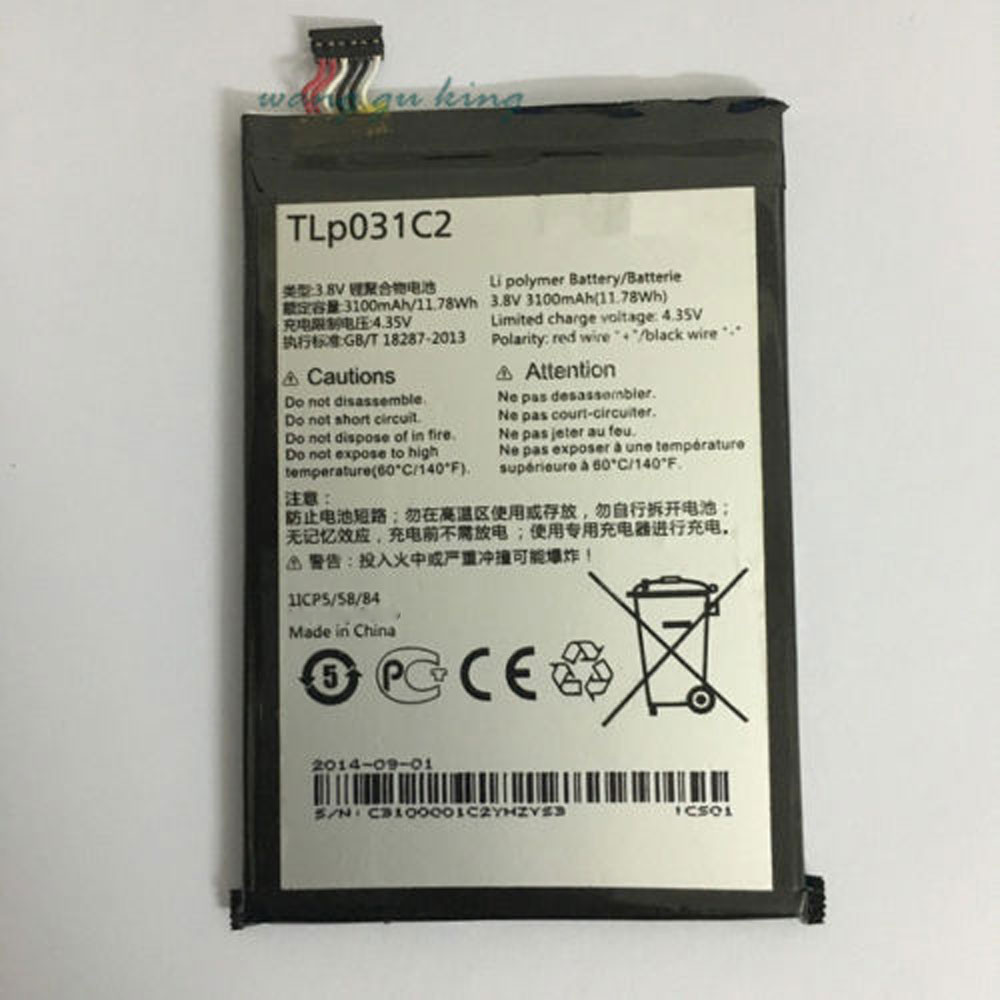 TLp031C2 Battery 3100MAH/11.78Wh 3.8V/4.35V Pack for Alcatel One Touch Hero 2 OT-8030 OT-8030B