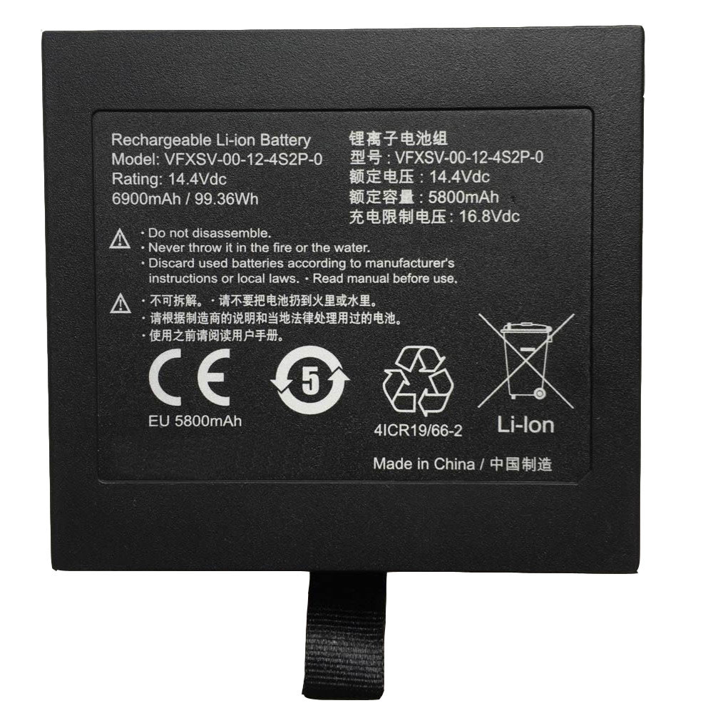 VFXSV-00-12-4S2P-0 Battery 5800MAH 14.4V Pack for GETAC GALLERIA VR WEAR VFXSV-0