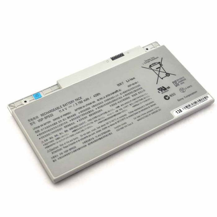 VGP-BPS33 Battery 3760mAh / 43WH 11.4V Pack for SONY VAIO SVT-14 SVT-15 T14 T15 Touchscreen Ultrabooks