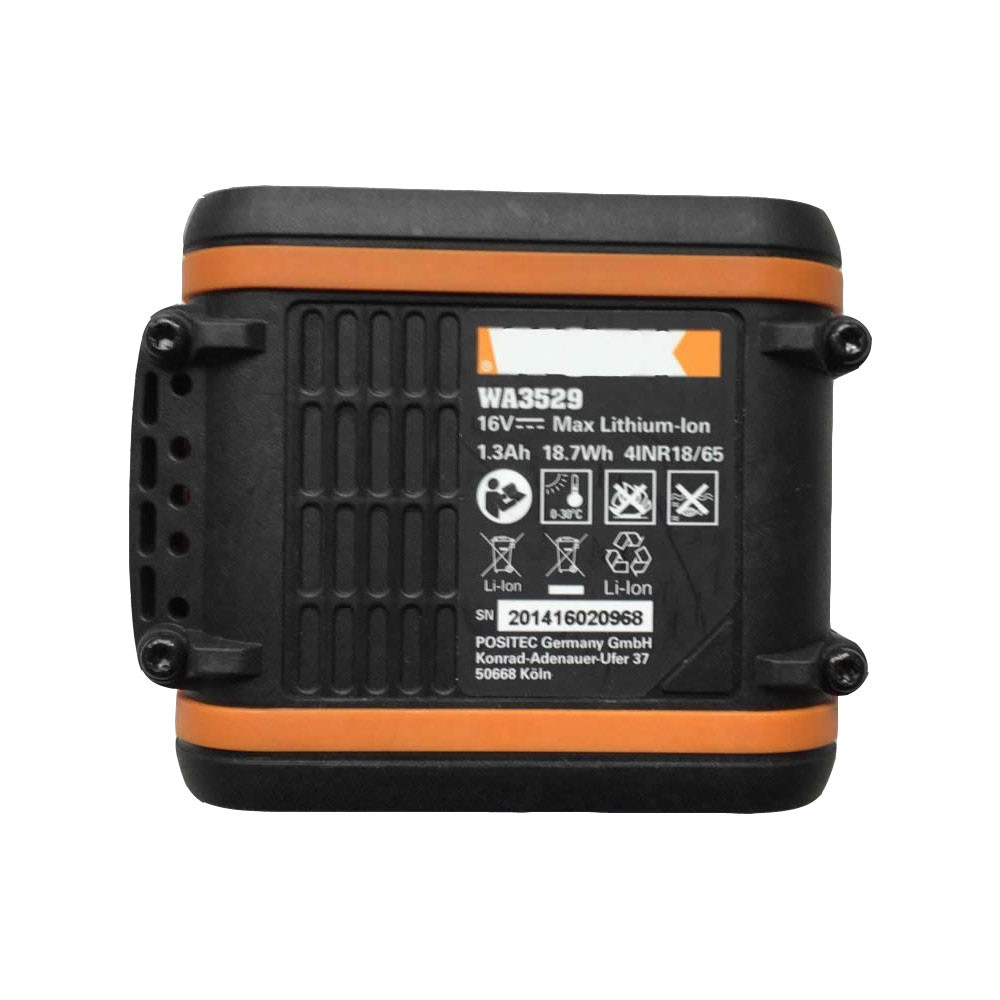 WA3529 Battery 1.3Ah/18.7wh 16V Pack for WORX WA3529