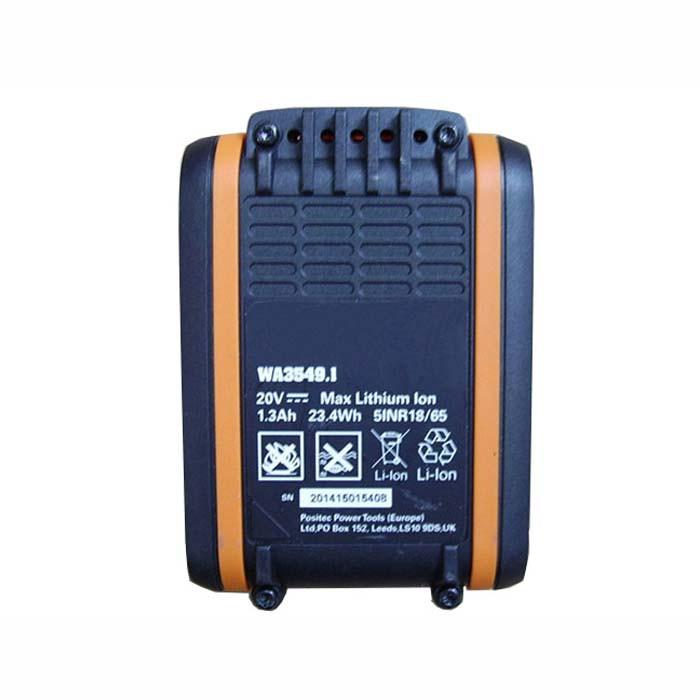 WA3549.1 Battery 1.3Ah/23.4WH 20V Pack for WORX WA3549.1