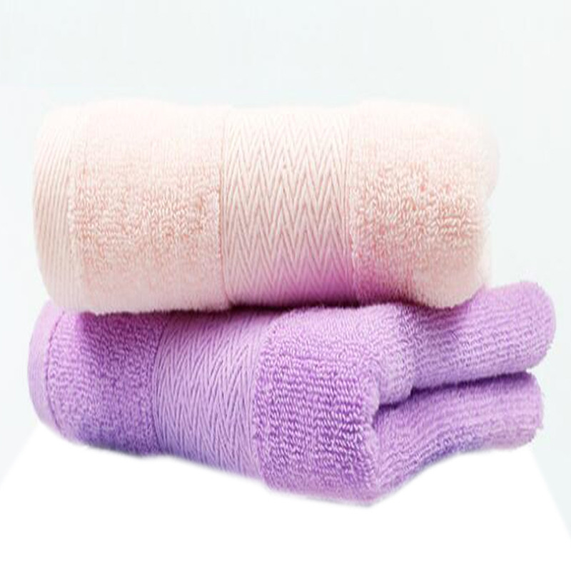 1Pc Face Towel Simple Solid Thicken Supple Comfortable Washing Towels