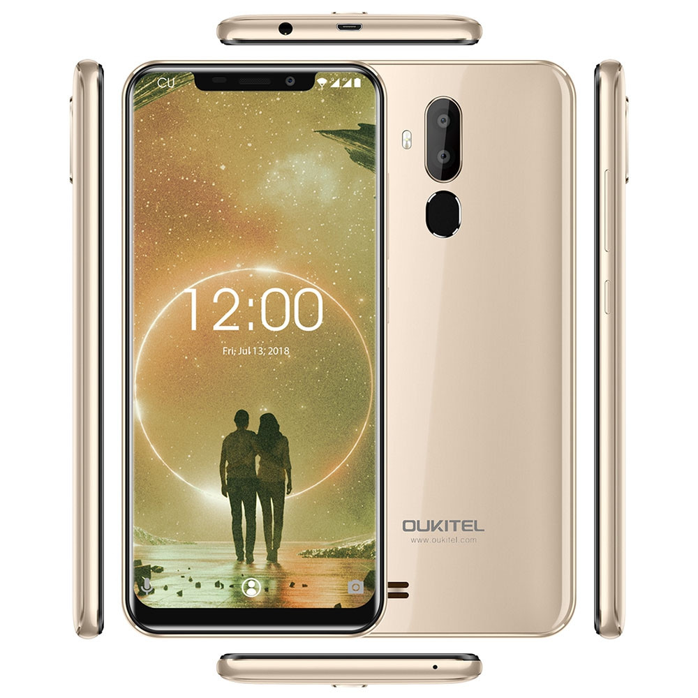 Oukitel C12 3G Phablet 6.18 inch Android 8.1 MT6580 Quad Core 2GB RAM 16GB ROM 2.0MP Front Camera Fingerprint Sensor 3300mAh Built-in