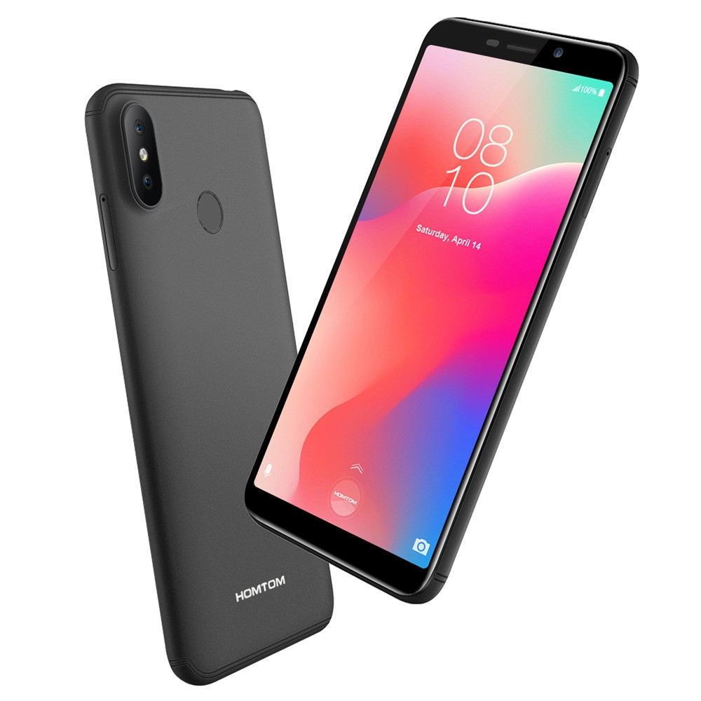 HOMTOM C1 3G Phablet 5.5 inch Android Go OS MTK6580A Quad-core 1.3GHz 1GB RAM 16GB ROM 13.0MP + 2.0MP Rear Camera Fingerprint Sensor 3000mAh Built-in