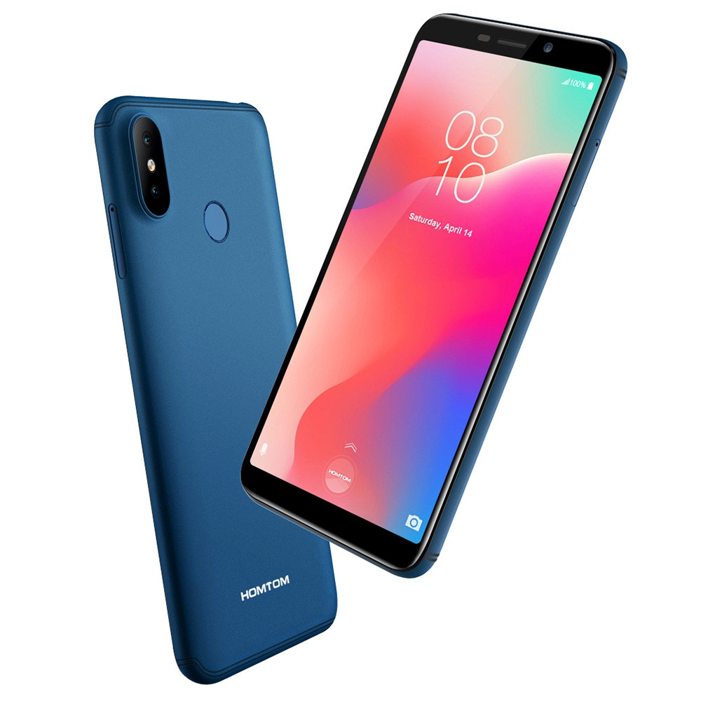 HOMTOM C1 3G Phablet 5.5 inch Android Go OS MTK6580A Quad-core 1.3GHz 1GB RAM 16GB ROM 13.0MP + 2.0MP Rear Camera Fingerprint Sensor 3000mAh Built-in