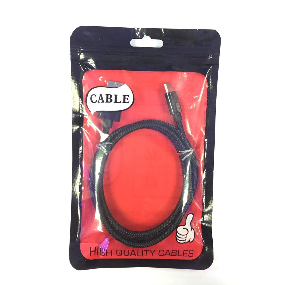 1M Nylon Braid Fast Charger Data Cable for Type-C  Devices