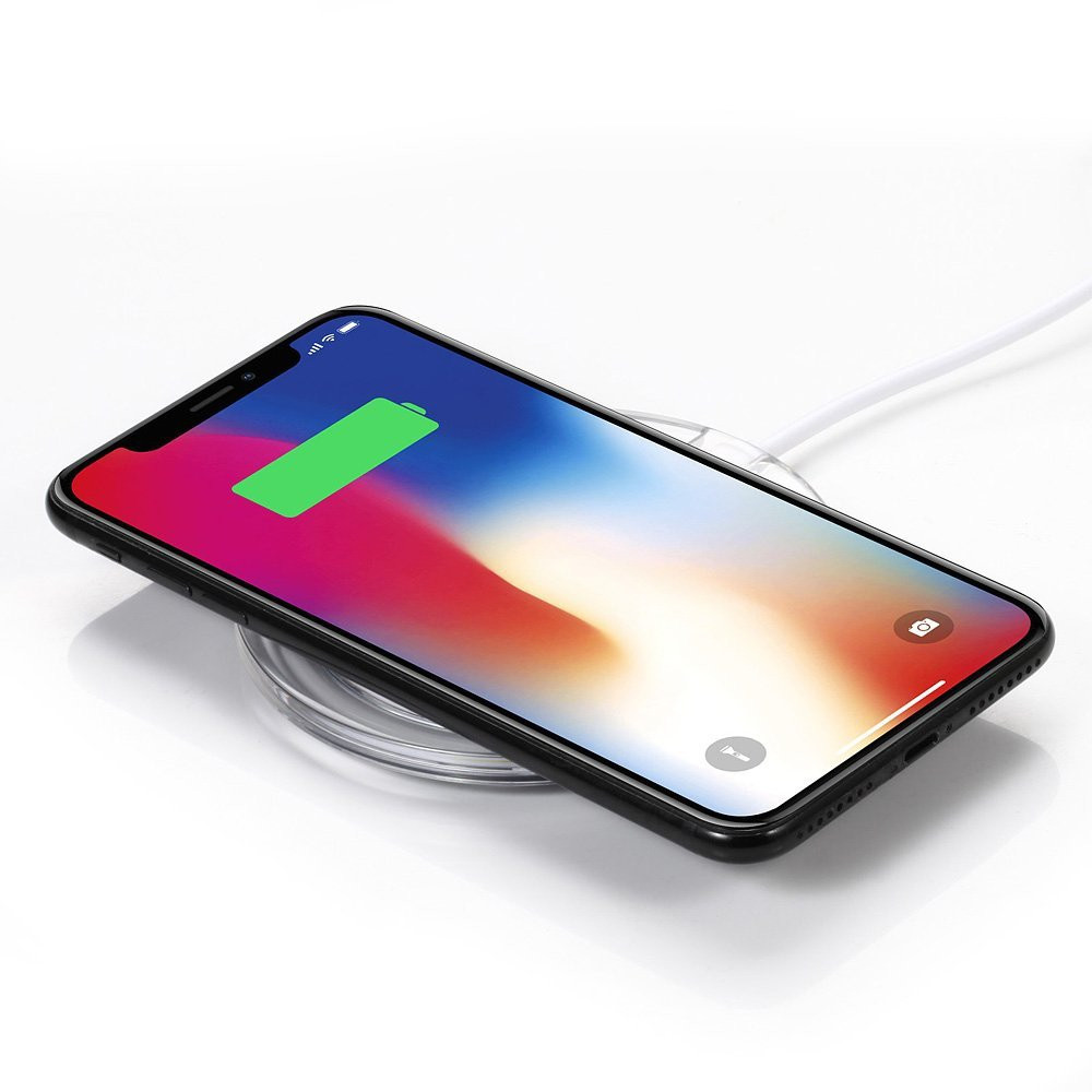 Fast Wireless Charger Qi Wireless Charging Pad Stand for iPhoneX 8 / 8 Plus / X Samsung Galaxy Note 8