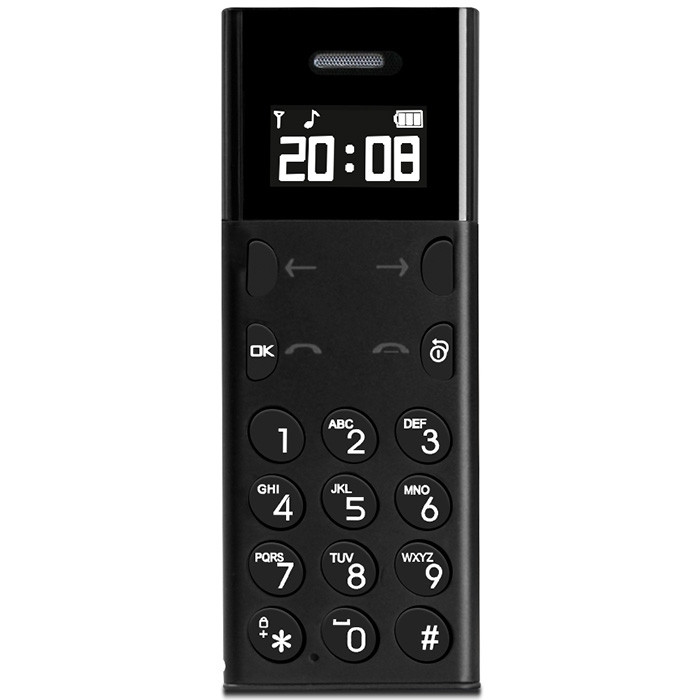 AEKU A5 2G Feature Phone 0.96 inch MTK6261D 32MB RAM 32MB ROM BT3.0 260mAh Built-in