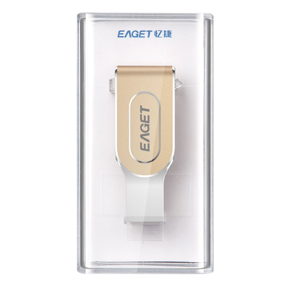 EAGET i80 64GB USB 3.0 Stylish Rotation Metal 8 Pin USB OTG Expansion U Disk for iPhone / iPad