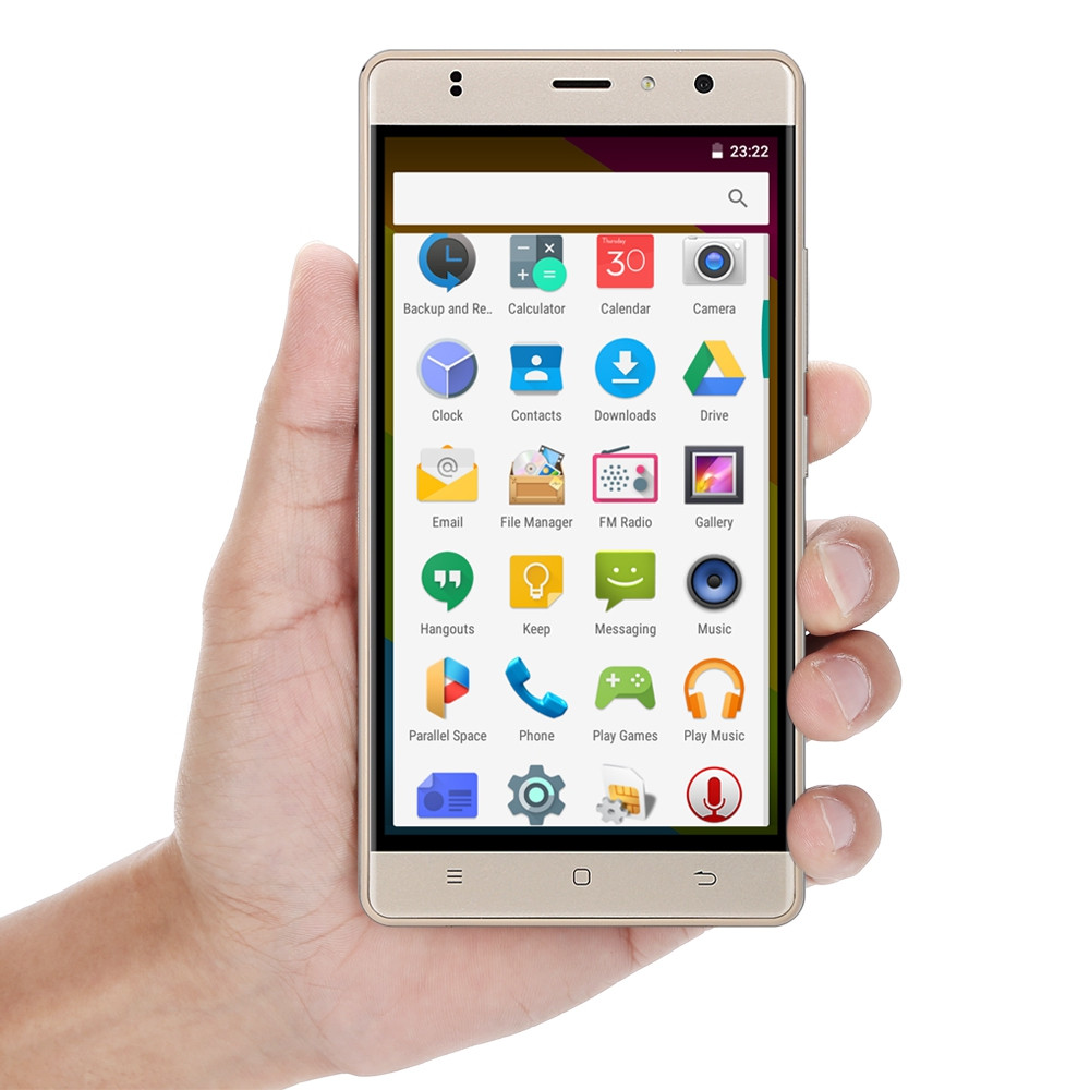 Timmy M20 PRO 5.5 inch Android 6.0 4G Phablet MT6737 Quad Core 1GB RAM 16GB ROM Fingerprint Scanner Bluetooth 4.0 GPS WiFi Dual Cameras