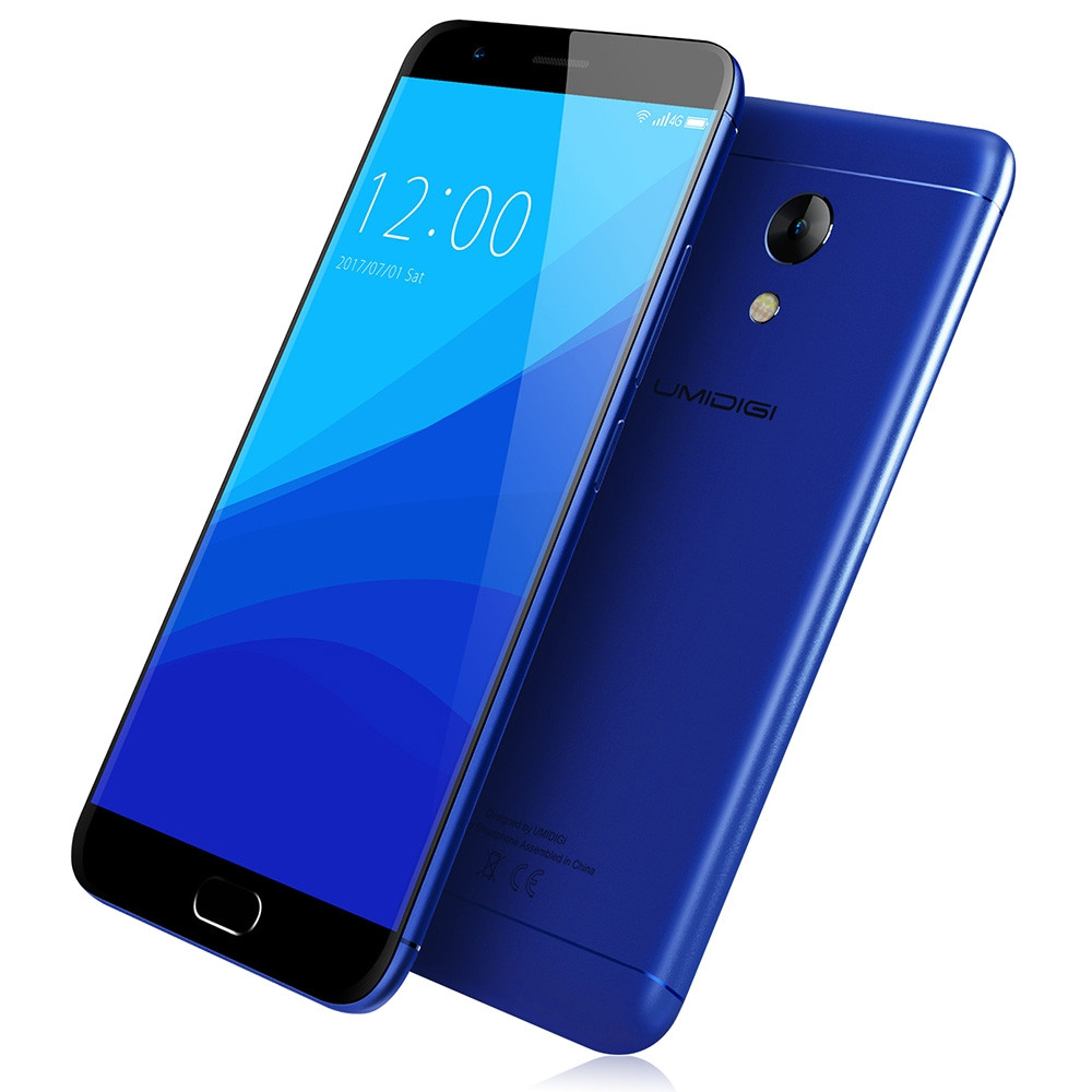 UMIDIGI C2 4G Smartphone Android 7.0 5.0 inch MTK6750T Octa Core 1.5GHz 4GB RAM 64GB ROM 13.0MP Rear Camera 4000mAh Battery