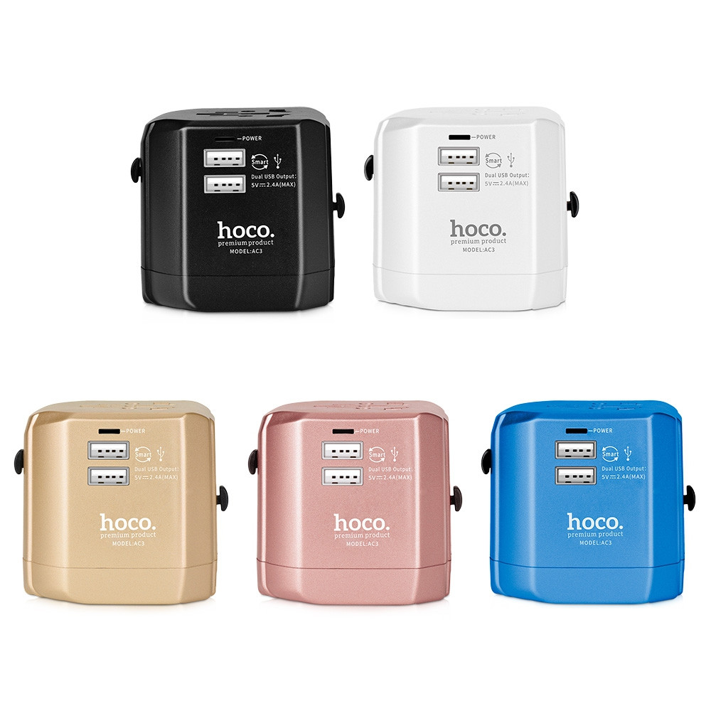 HOCO AC3 Worldwide 2.4A Dual USB Travel Charger Adapter