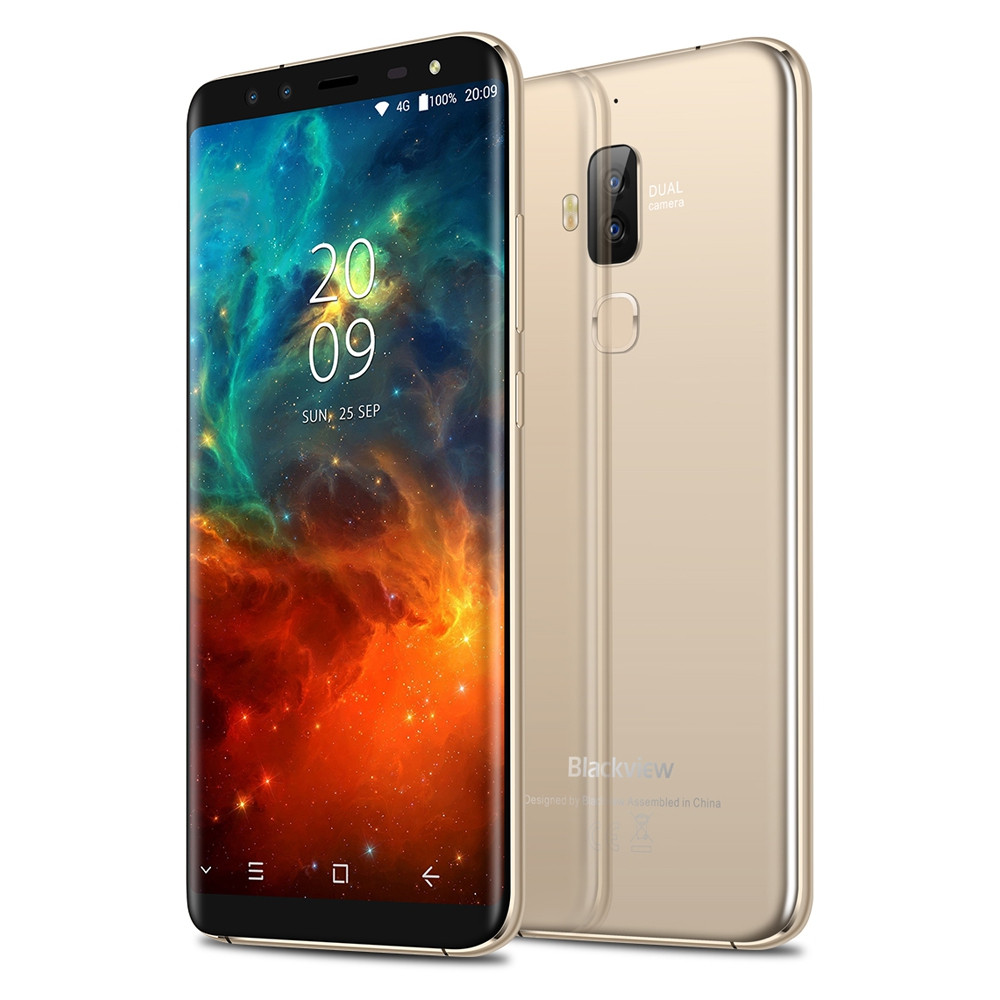 Blackview S8 4G Phablet 5.7 inch Android 7.0 MTK6750T 1.5GHz Octa Core 4GB RAM 64GB ROM 8.0MP + 0.3MP Dual Front Cameras Touch Sensor