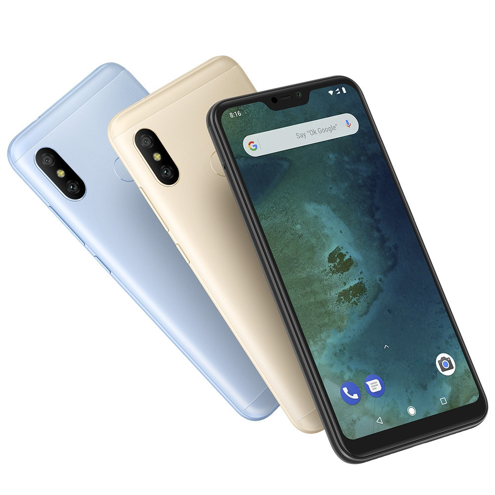 Xiaomi Mi A2 Lite 4G Phablet 5.84 inch Android 8.1 Snapdragon 625 Octa Core 2.0GHz 4GB RAM 64GB ROM 12.0MP + 5.0MP Dual Rear Cameras Fingerprint Sensor 4000mAh Built-in
