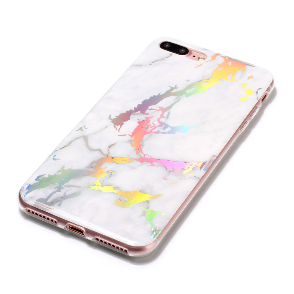 Hot Granite Marble Texture Phone Case Soft TPU Back Cover for iPhone 7 Plus / 8 Plus
