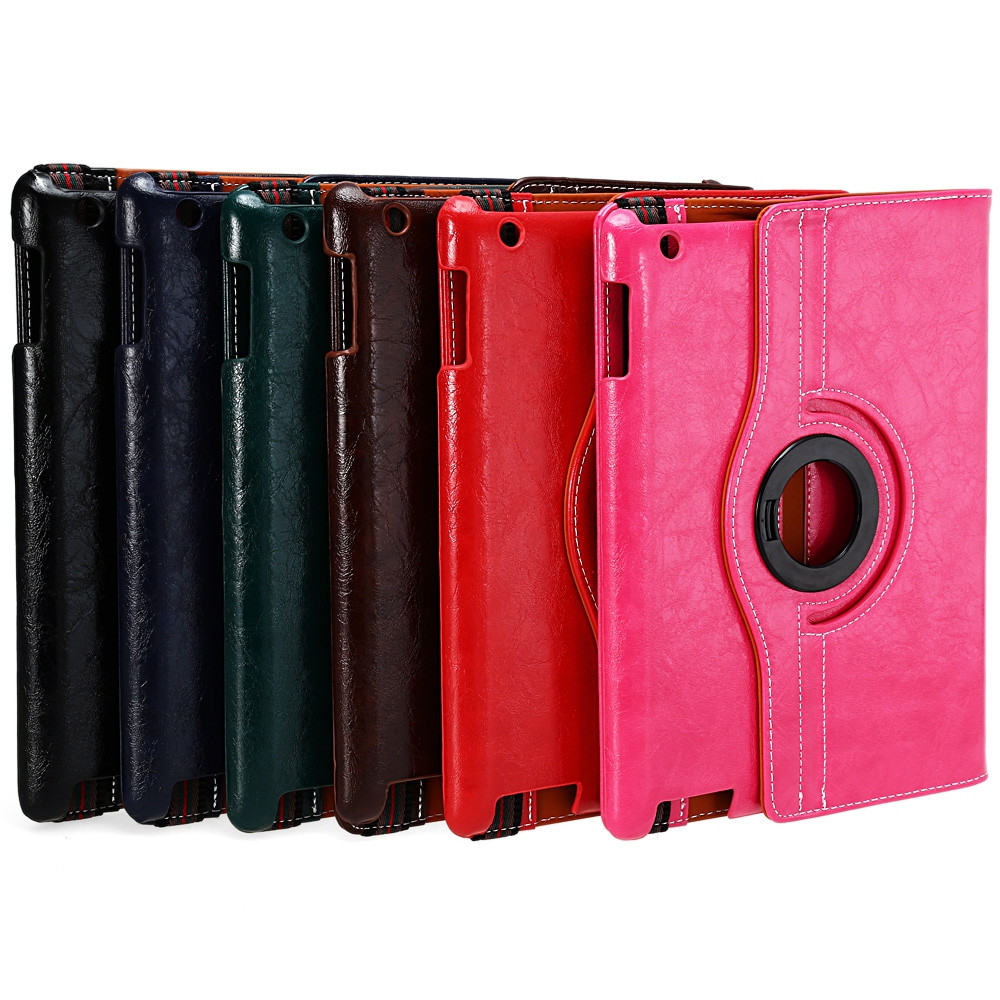 Crazy Horse Series 360 Degree Rotating Cover with Auto Sleep Wake Up Function for iPad 2 / 3 / 4