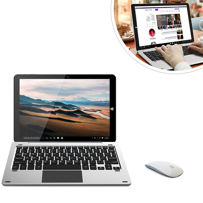 CHUWI Hi12 2 in 1 Tablet PC 12 inch Windows 10 Z8350 Quad Core 1.92GHz 4GB RAM 64GB eMMC 5.0MP Rear Camera Micro HDMI OTG 10000mAh Built-in with Keyboard