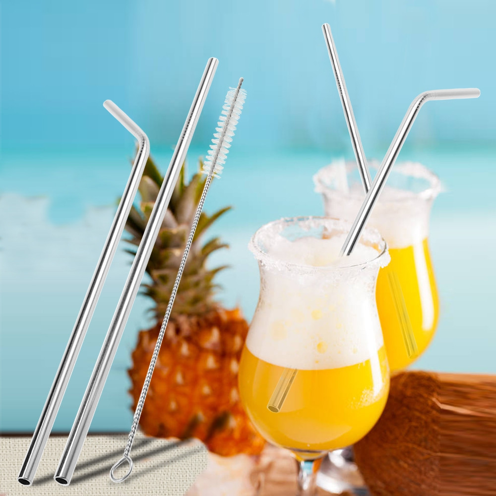 Stainless Steel Drinking Straw with Cleaning Brush