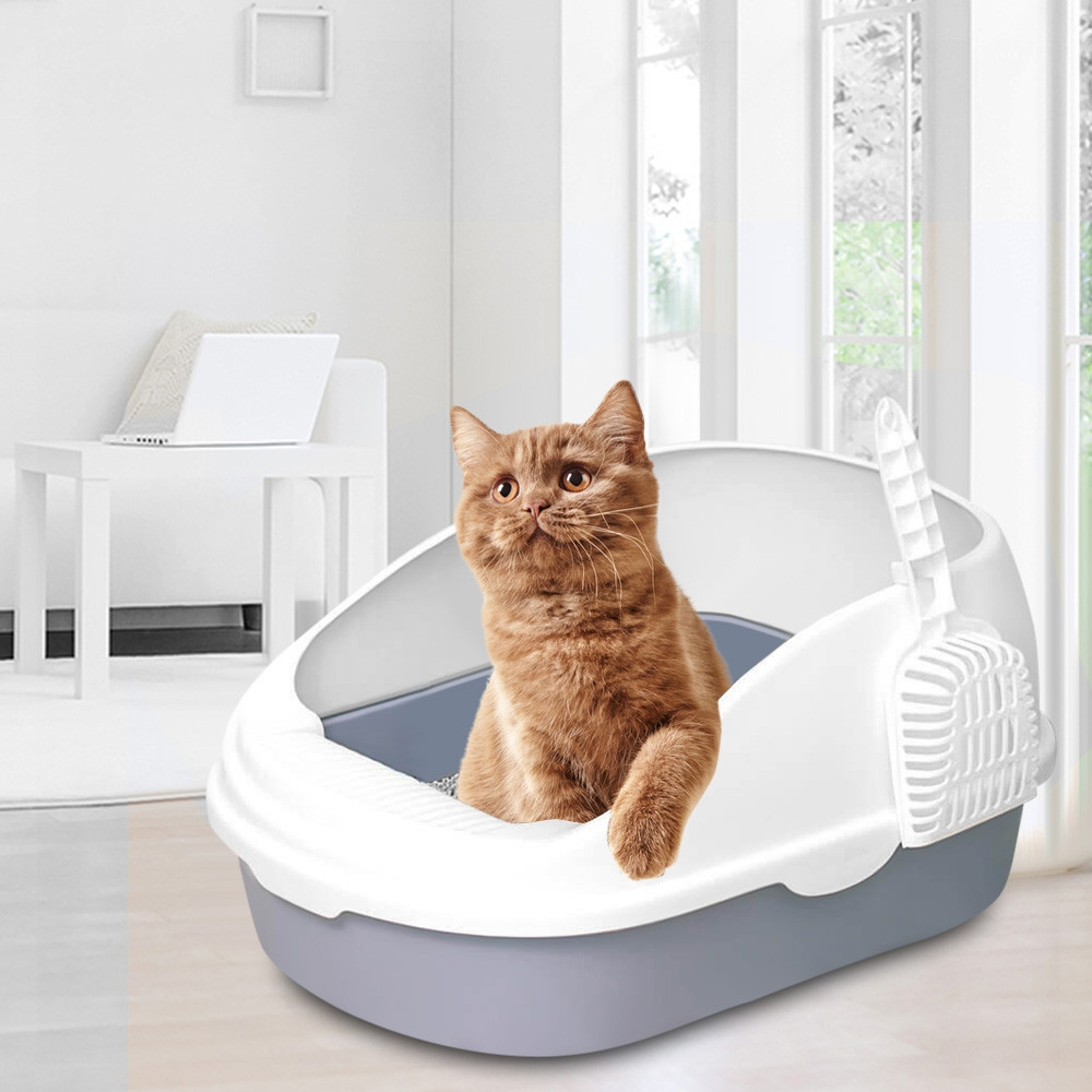 Clean Pet Open Top Large Cat Litter Box with Scoop
