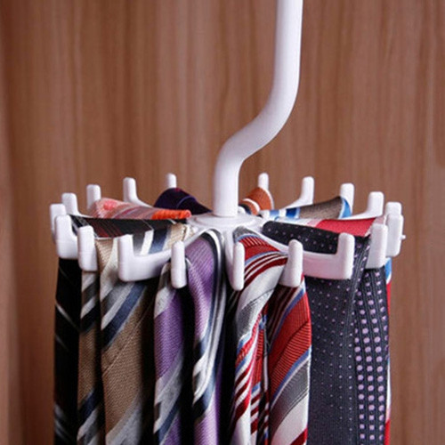 360 Degree Rotation Tie Storage Rack