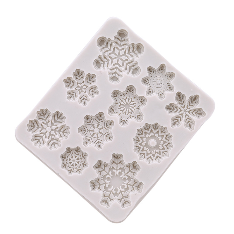 3D Snowflake Lace Chocolate Mold Party DIY Fondant Baking Cake Decorating Tool