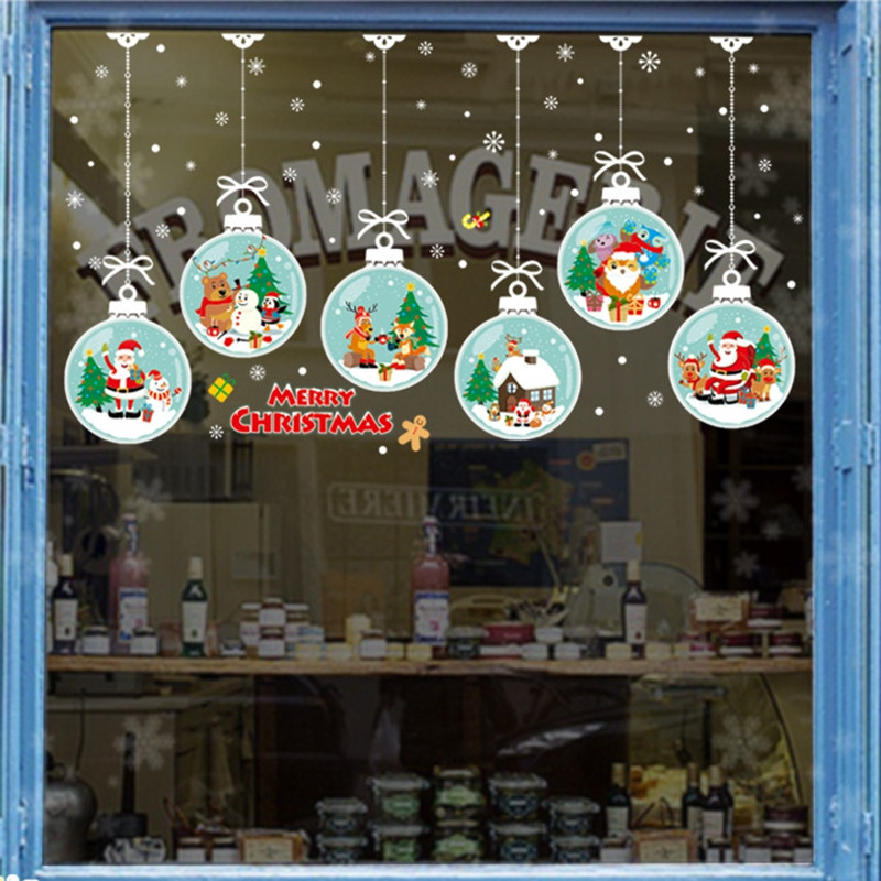 Christmas Ball PVC Door Window Wall Sticker