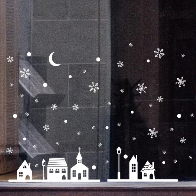 Christmas Starry Sky PVC Wall Sticker