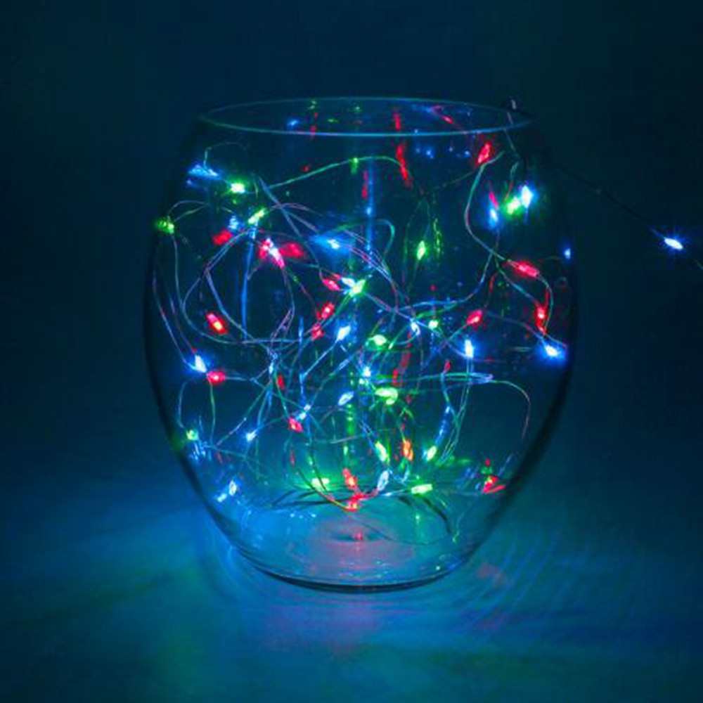 1M 10LED  Copper Silver Wire String Lights Fairy Garland For Christmas