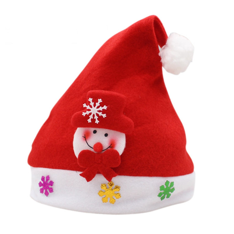 3PCS Holiday Inspirational Textile Hats for Christmas Party