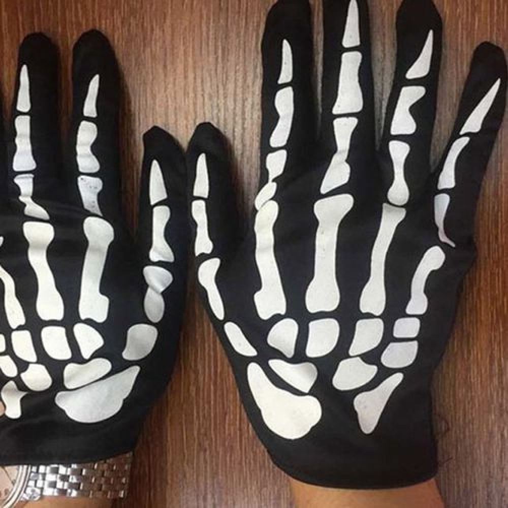 YEDUO  Halloween Horror Skeleton Ghost Claw Gloves